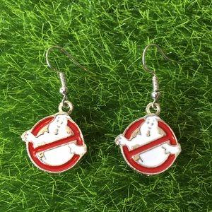 Jewelry - Ghostbusters Logo Drop Earrings